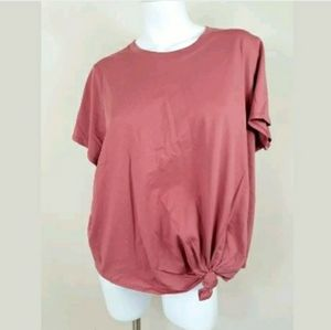 NWT Madewell 3X Front Tie Tee Shirt Top Soft Cotto